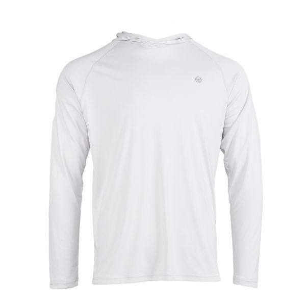 Sun Protective Hoodie white front